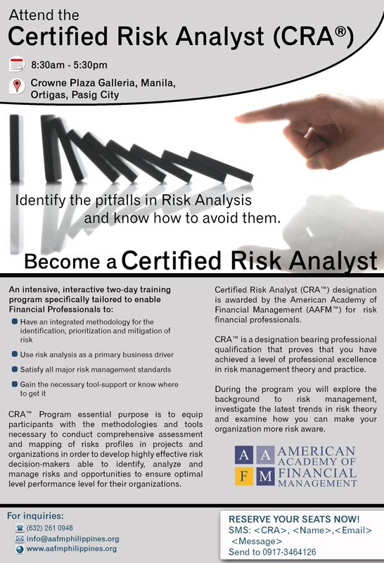 cra certified risk analyst program